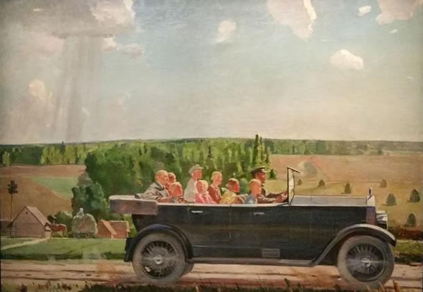 Lenin op pad met de kinderen