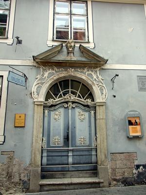 Het Apotheek-museum in het Art Nouveau-district in Riga