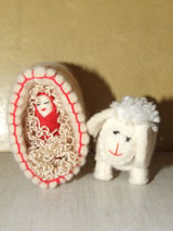 Kerststal-figuurtjes uit Kirgizië