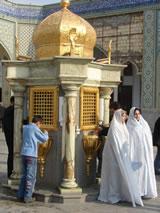 De Imam Reza Moskee in Mashhad, Iran