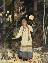 Vasilisa voor de hut van Baba Yaga door Ivan Bilibin (1876-1942)