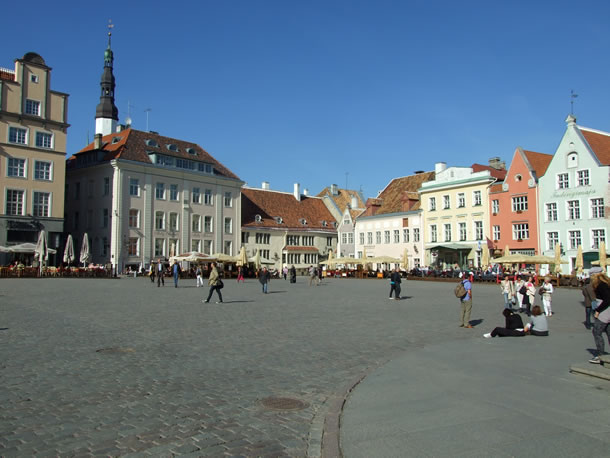 Estland: Stadhuisplein Tallinn