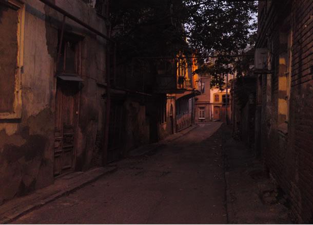 De oude binnenstad van Tbilisi