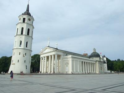 Het Kathedraalplein in Vilnius