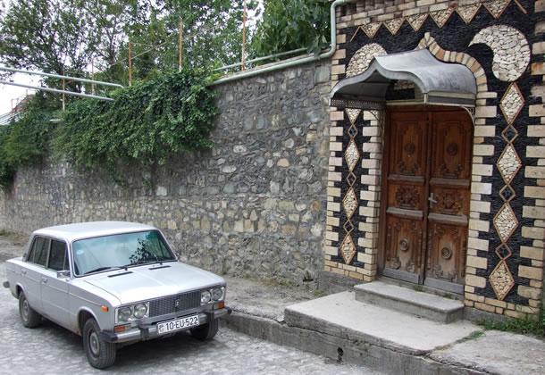 Sheki: detail van de historische binnenstad