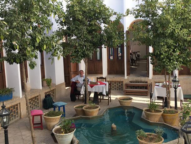Yazd hotel Laleh (foto: Ank & René)