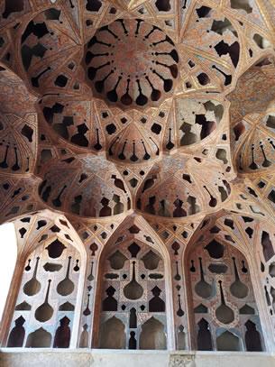 Isfahan muziekkamer in Ali Qapu paleis (foto: Ank & René)
