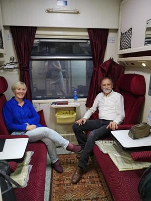 nachttrein van Teheran naar Kerman (foto: Ank & René)