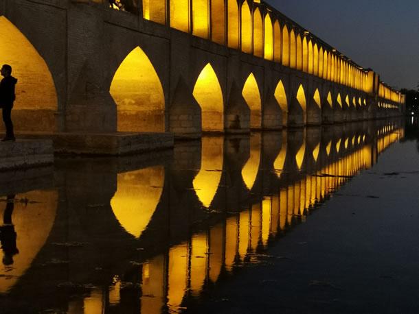 Isfahan Si-o-se Pol brug (foto: Ank & René)
