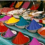 Kleuren op de markt van Mysore