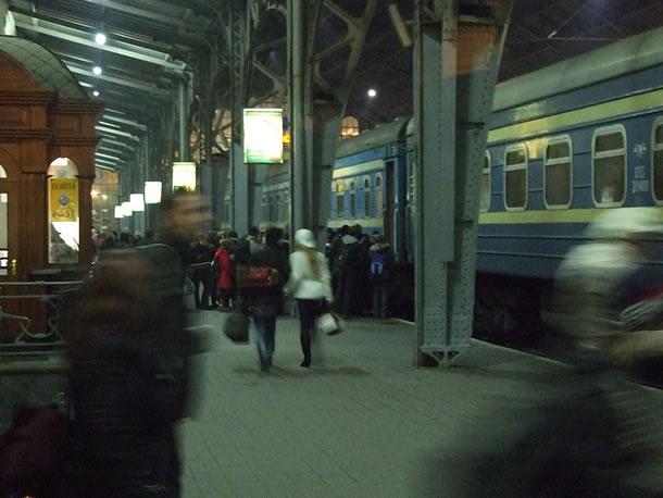 Met de trein door Oekraïne: vertrek van de nachttrein uit Lviv (foto: Blini Reizen)
