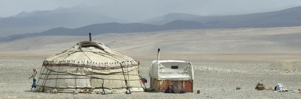Overnachten in een yurt