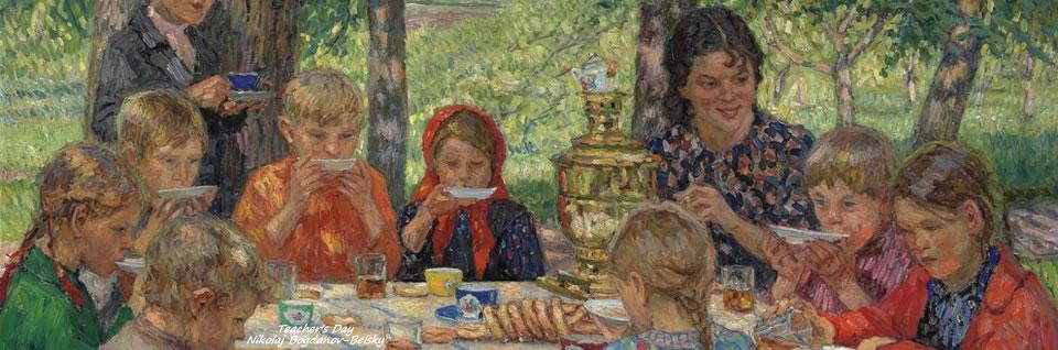 Teacher's Birthday by Nikolaj Petrovitsj Bogdanov-Belsky